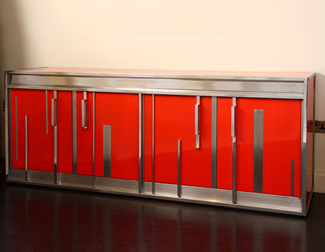 Superbe Red Lacquered Furniture